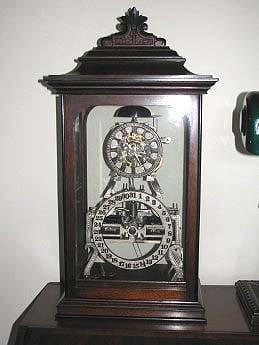 Ithaca Box Skeleton Clock