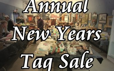 Annual New Years Tag Sale